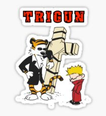 calvin and hobbes trigun Sticker