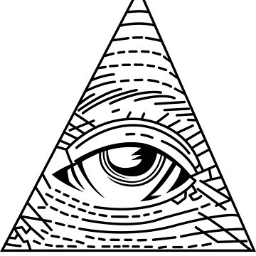Illuminati Black - All Seeing Eye - Simple by kibo
