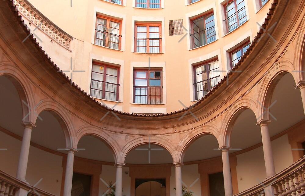 A Courtyard in Palma by Tom Gomez