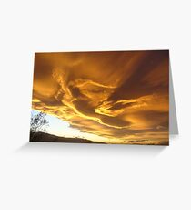 Desert Sky Sculture Greeting Card