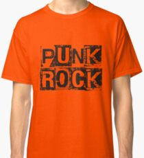 Punk Rock - Black Grunge Block Classic T-Shirt