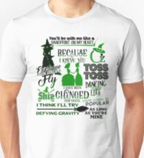 Wicked Musical Quotes T-Shirt