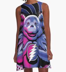 Mindfulness Grateful Bear A-Line Dress