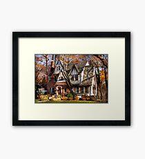 Autumn - Gnome home Framed Print
