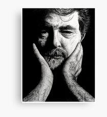 george lucas charcoal Canvas Print