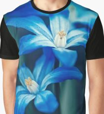Small Blue Flowers Graphic T-Shirt
