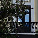 Elegant Tropical Balcony - the Beautiful Colonial Architecture of Old San Juan, Puerto Rico by Georgia Mizuleva