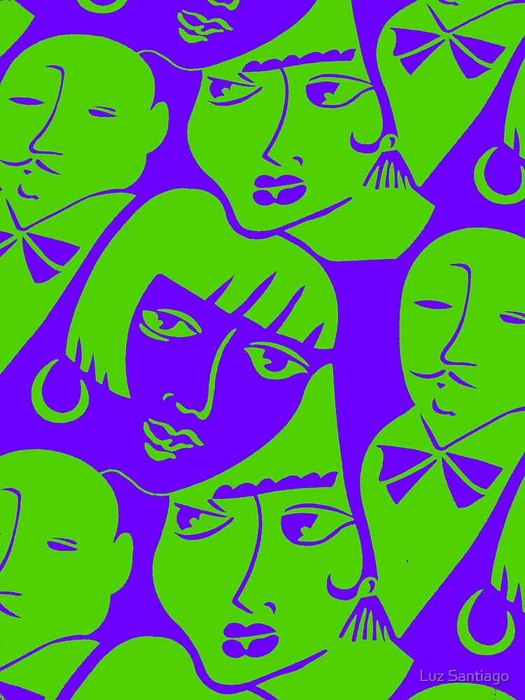 """""""Party Crowd"""" (graphic poster) by Luz Santiago"""
