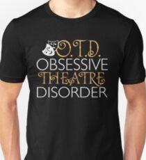 Camiseta ajustada OTD. Trastorno del teatro obsesivo.