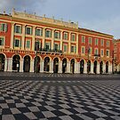 Nice, France, French Riviera - the Cheerful Colors of Place Massena  by Georgia Mizuleva