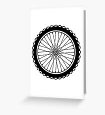 Mountain Bike Wheel - Black Greeting Card