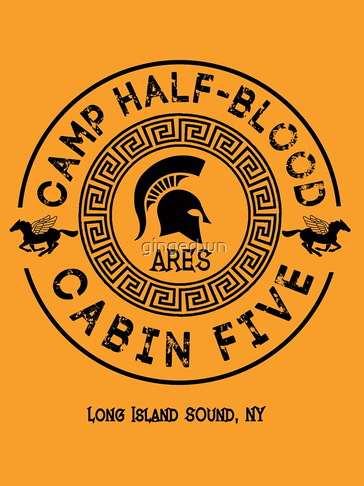 Percy Jackson Camp Half Blood Cabin Five Ares Unisex T Shirt
