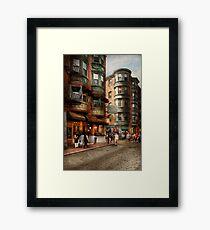 City - Boston MA - The North Square Framed Print