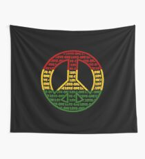 Rasta Friedenszeichen Wandbehang