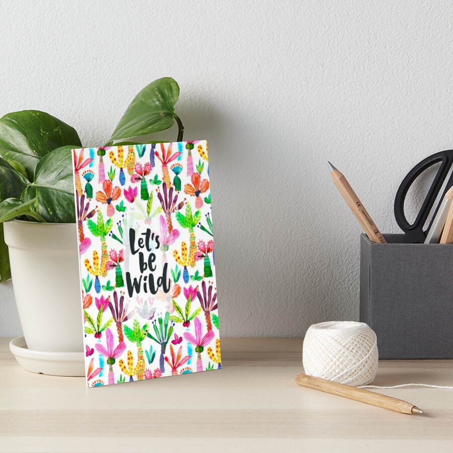 Jungle tropical garden - Fun palms pattern Art Board Print