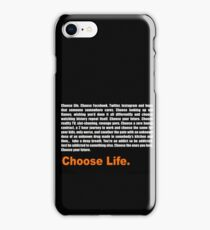 T2 Trainspotting Choose Life iPhone Case/Skin