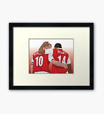 Thierry Henry & Dennis Bergkamp Framed Print