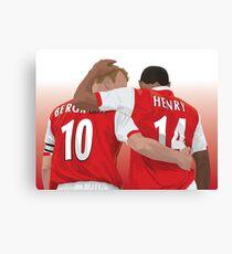 Thierry Henry & Dennis Bergkamp Canvas Print