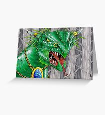 bull dragon Greeting Card