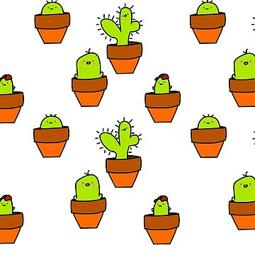 Potted Cacti by midtown1
