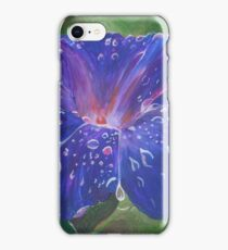Deep Purple Morning Glory With Morning Dew iPhone Case/Skin