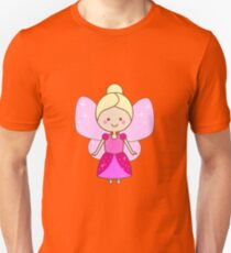 Cute winged fairy in pink dress Unisex T-Shirt