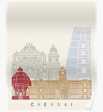 Chennai skyline poster Poster