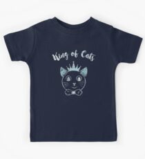 Cute Cat Shirt for Kids - King of Cats Kids Clothes