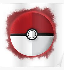 Pokeball Graphic Art Poster