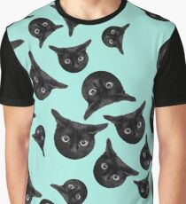 Black cat pattern Graphic T-Shirt