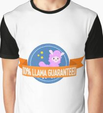 100% Llama Camiseta gráfica