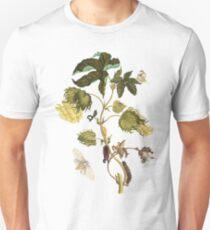 Metamorphosis & Change - Caterpillar changing into Butterfly on flower vine Unisex T-Shirt