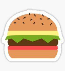 Eat Cheeseburger Sticker