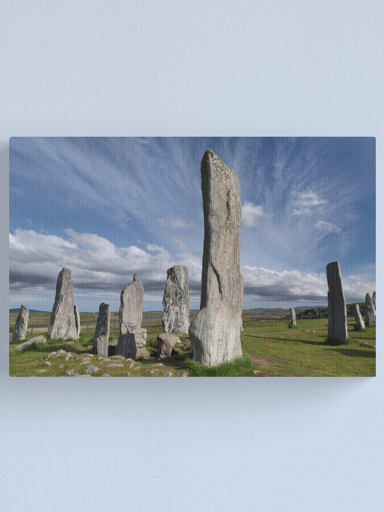 Alternate view of Callanish Stones and Summer Skies. Isle of Lewis. Outer Hebrides. Scotland. Canvas Print