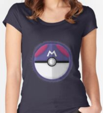 Master Ball Graphic Art Women's Fitted Scoop T-Shirt