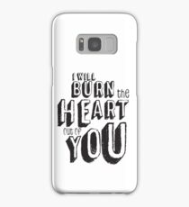 I'll burn the heart out of you, Moriarty Quote from Sherlock Samsung Galaxy Case/Skin
