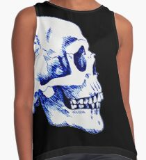 Gothic Skull Ink Drawing Contrast Tank