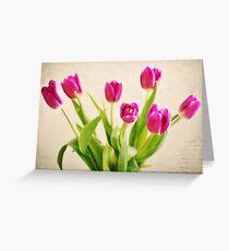 Cheerful Tulips Greeting Card