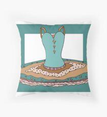 Ballet Tutu Print Throw Pillow