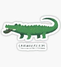 croc cannibalism Sticker
