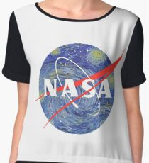 Starry Night NASA Women's Chiffon Top