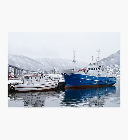 Boats in Tromso Photographic Print