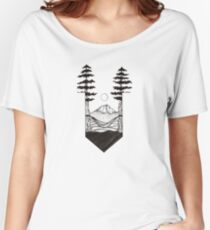 Tree Hammock ink drawing Women's Relaxed Fit T-Shirt