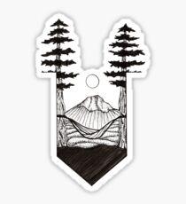 Tree Hammock ink drawing Sticker