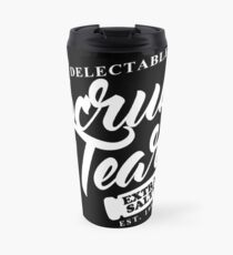 Delectable Scrub Tears, Extra Salty (White Text) Travel Mug