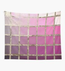 Color Chart Pink Wall Tapestry