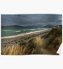 Traigh Seilebost Dunes. North Harris Hills.  Isle of Harris. Scotland. Poster