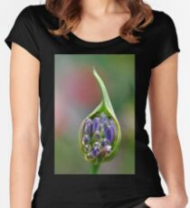 Agapanthus Bud Women's Fitted Scoop T-Shirt