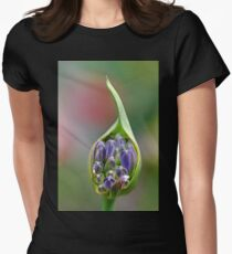 Agapanthus Bud Womens Fitted T-Shirt