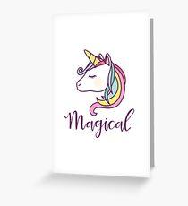 Tarjeta de felicitación Unicornio mágico